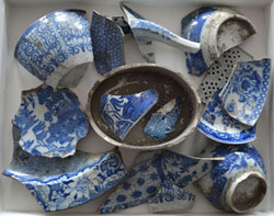 A few of the thousands of discarded shards found buried all over the historic Spode site.