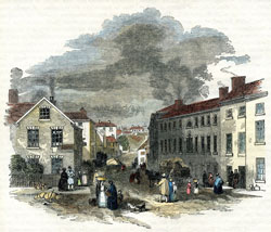 Drawing of the Spode site