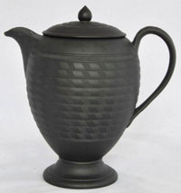 Black Egg Shape Basalt Coffee Pot