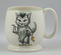 Earthenware mug decorated with a design from Cutie Kitten