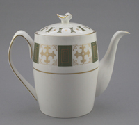 Bone china teapot decorated with Persia pattern