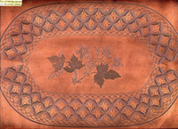 "Engraved copperplate in the ""Geranium"" pattern c. 1825."